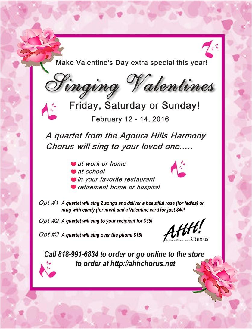 singing valentines 2016 starting on friday